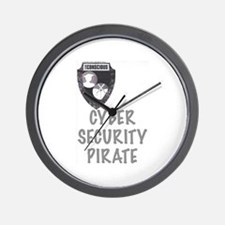 Cyber Security Pirate Wall Clock