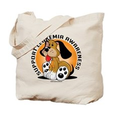 Leukemia Dog Tote Bag