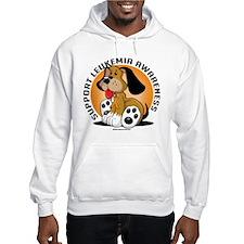 Leukemia Dog Hoodie Sweatshirt