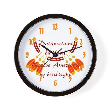 """""""Potawatomi"""" Wall Clock"""