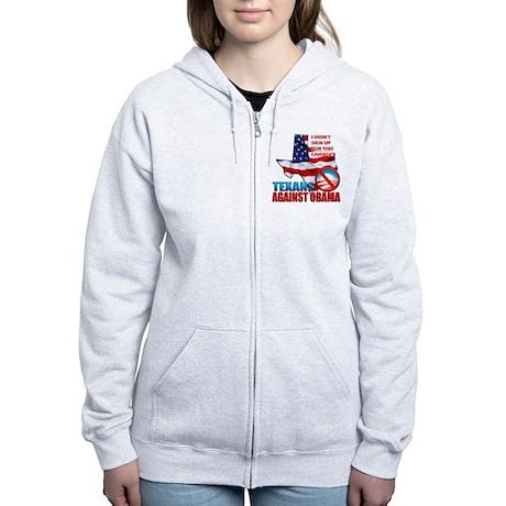 Texans Against Obama Women's Zip Hoodie