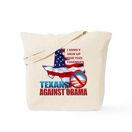 Texans Against Obama Tote Bag