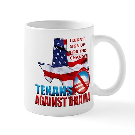 Texans Against Obama Mug