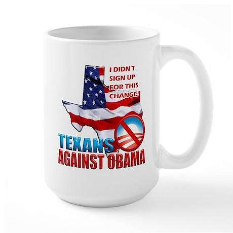 Texans Against Obama Large Mug