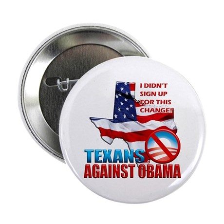 "Texans Against Obama 2.25"" Button"