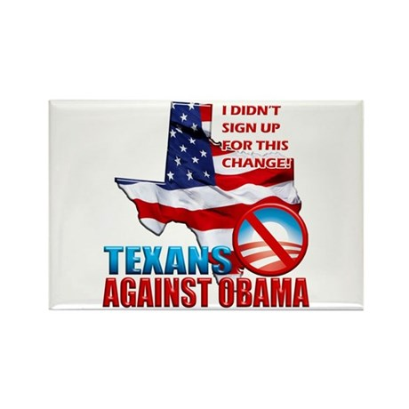 Texans Against Obama Rectangle Magnet