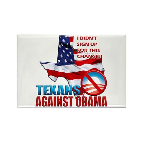 Texans Against Obama Rectangle Magnet (100 pack)