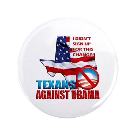 "Texans Against Obama 3.5"" Button (100 pack)"