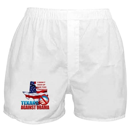 Texans Against Obama Boxer Shorts