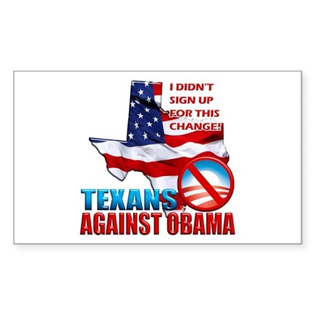 Texans Against Obama Sticker (Rectangle)