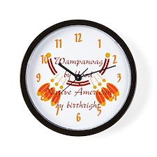 """""""Wampanoag"""" Wall Clock"""