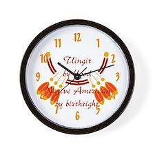 """""""Tlingit"""" Wall Clock"""