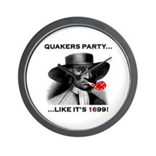 Quakers Party Wall Clock