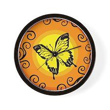 Swirly Butterfly Wall Clock