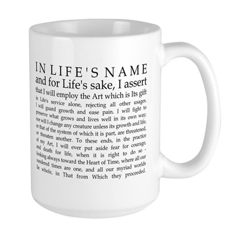 Just The Oath Large Mug