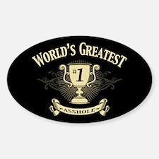 World's Greatest Asshole Sticker (Oval)