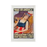 Wake Up America Poster Art Rectangle Magnet