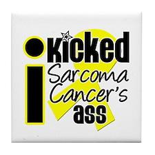 IKickedSarcomaAss Tile Coaster