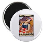 Wake Up America Poster Art Magnet