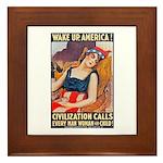 Wake Up America Poster Art Framed Tile
