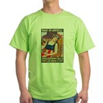 Wake Up America (Front) Green T-Shirt