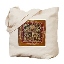 Old Jewish Symbols Tote Bag
