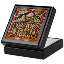 Old Jewish Symbols Keepsake Box