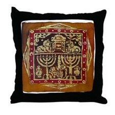 Old Jewish Symbols Throw Pillow