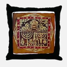 Old Jewish Symbols Throw Pillow