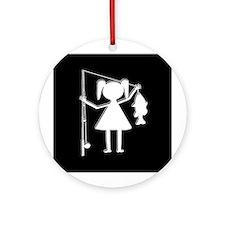 REEL GIRL Ornament (Round)