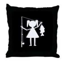 REEL GIRL Throw Pillow