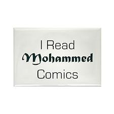 I Read Mohammed Comics Rectangle Magnet