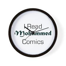 I Read Mohammed Comics Wall Clock