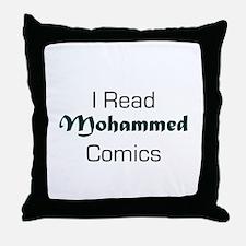 I Read Mohammed Comics Throw Pillow