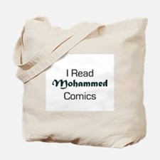 I Read Mohammed Comics Tote Bag