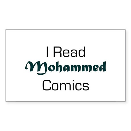 I Read Mohammed Comics Rectangle Sticker