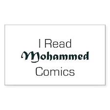 I Read Mohammed Comics Rectangle Decal