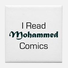 I Read Mohammed Comics Tile Coaster