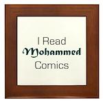I Read Mohammed Comics Framed Tile