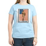 Be a US Marine Poster Art Women's Pink T-Shirt