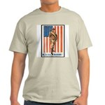 Be a US Marine Poster Art Ash Grey T-Shirt
