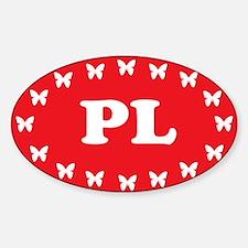 Cute Poland eu Sticker (Oval)
