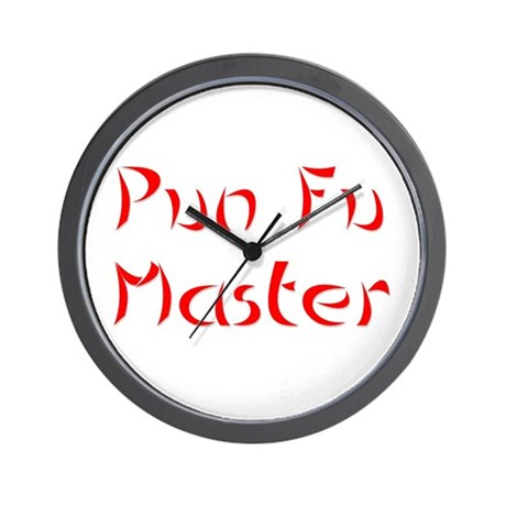 Pun Fu Master Wall Clock