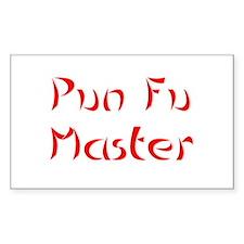 Pun Fu Master Decal