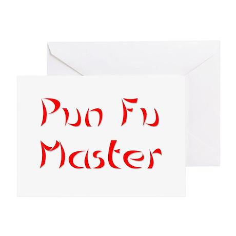 Pun Fu Master Greeting Card