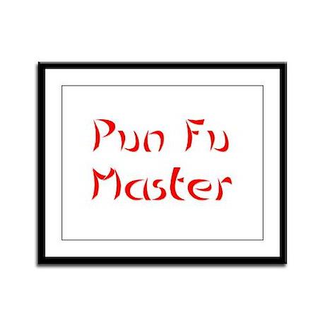Pun Fu Master Framed Panel Print