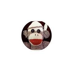 Ernie the Sock Monkey Mini Button (10 pack)