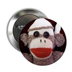 "Ernie the Sock Monkey 2.25"" Button (100 pack)"