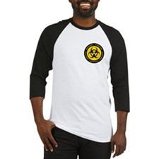 Yellow & Black Biohazard Baseball Jersey
