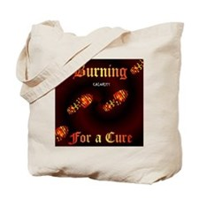 Burning Calories 4 A Cure - boot - Tote Bag